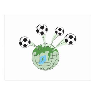 Fußballweltweltweite Grafik Postkarte