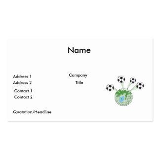 Fußballweltweltweite Grafik Visitenkarten