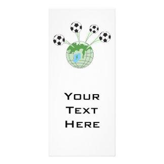 Fußballweltweltweite Grafik Vollfarbige Werbekarte