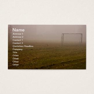 Fußbalziel in der Nebel-Visitenkarte Visitenkarte