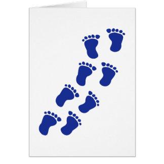 Füße Baby Karte