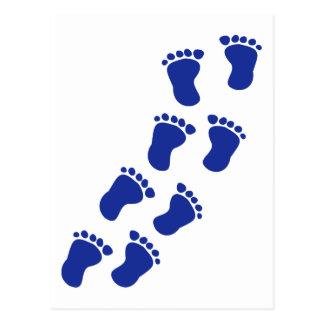 Füße Baby Postkarte