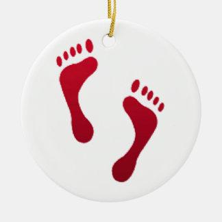 Füße - Emoji Keramik Ornament
