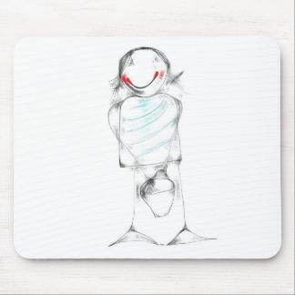 Fußmatte für Maus mit Zeichnung des Kindes Mauspad