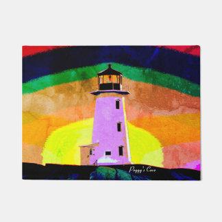 Fußmatte-Peggy Bucht-Leuchtturm-Tür-Matte Türmatte