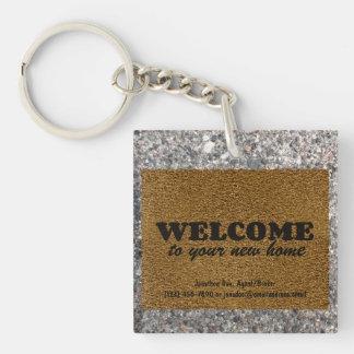 Fußmatte Einseitiger Quadratischer Acryl Schlüsselanhänger