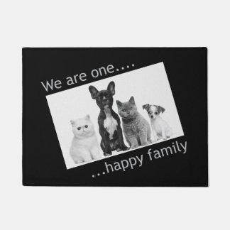 Fußmatte - wir sind eine glückliche Familie Türmatte