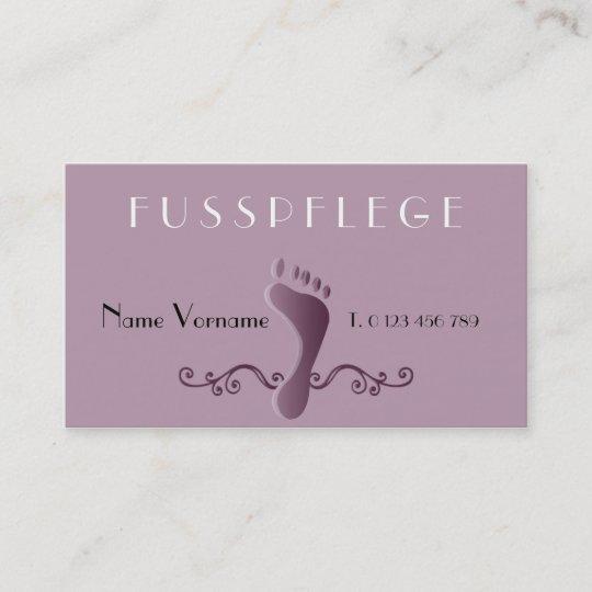 Fußpflege Visitenkarte Zazzle De