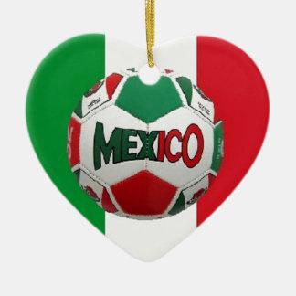 FUTBOL MEXIKO KERAMIK Herz-Ornament