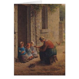 Füttern der Junge, 1850 Karte