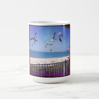 Füttern der Seemöwen Kaffeetasse