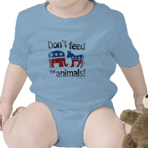 Füttern Sie den Tieren Party-Politik nicht Baby Strampelanzug