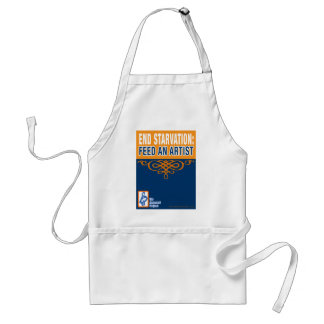 Füttern Sie die Schürze eines Künstler-Koch