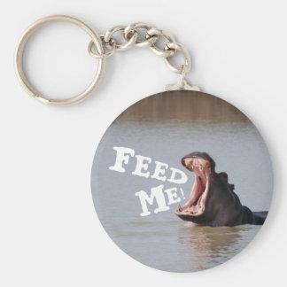 Füttern Sie mich! Flusspferd Schlüsselanhänger
