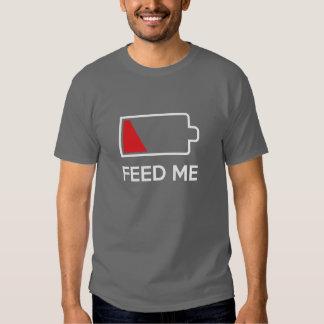Füttern Sie mir niedrige Power-Batterie Tshirts