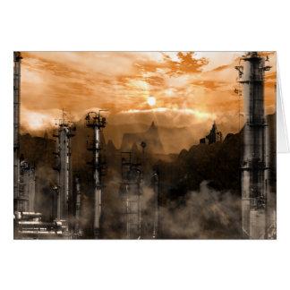 Futurescape Sciencefiction-gotische Landschaft Karte