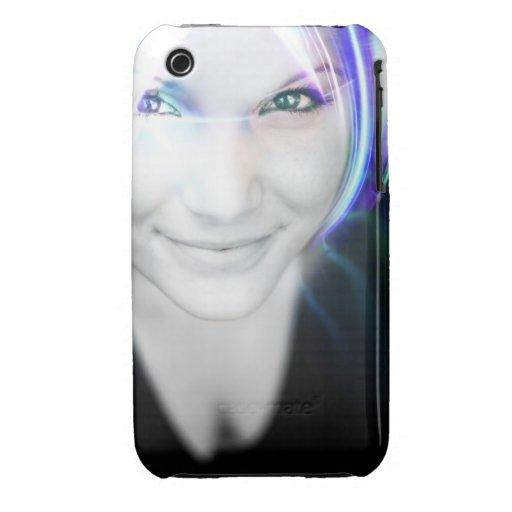 Futuristische glühende Haar-Frau Case-Mate iPhone 3 Hüllen