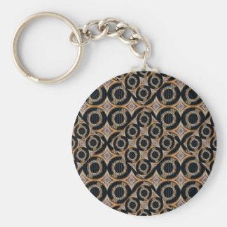 Futuristische Kreis-abstraktes Muster Schlüsselanhänger