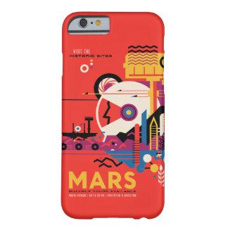 Futuristische Mars-Raumfahrt-Illustration Barely There iPhone 6 Hülle