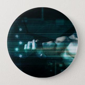 Futuristische Schnittstelle mit androidem Runder Button 10,2 Cm
