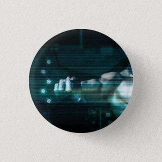 Futuristische Schnittstelle mit androidem Runder Button 3,2 Cm