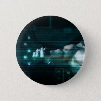 Futuristische Schnittstelle mit androidem Runder Button 5,7 Cm