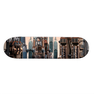 Futuristische Stadt 19,7 Cm Skateboard Deck
