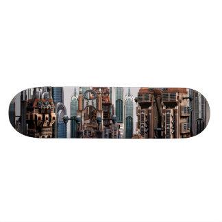 Futuristische Stadt 21,6 Cm Skateboard Deck