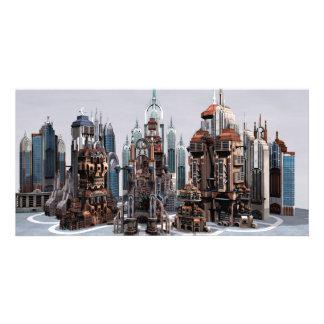 Futuristische Stadt Individuelle Foto Karte