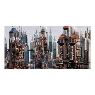 Futuristische Stadt Individuelle Photo Karte