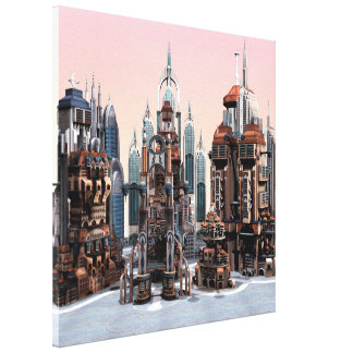 Futuristische Stadt Leinwanddruck