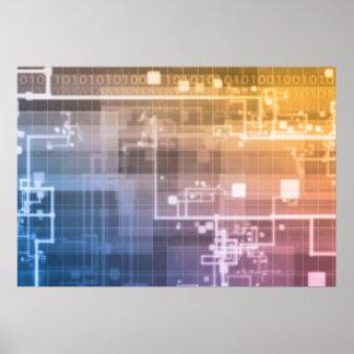 Futuristische Technologie als folgende Poster