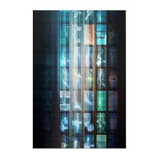Futuristische Technologie mit dem zukünftigen Tech Acryldruck