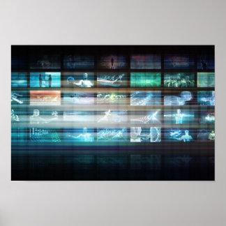 Futuristische Technologie mit dem zukünftigen Tech Poster