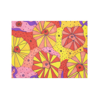 Futuristischer Blumengarten-abstrakter Leinwanddruck