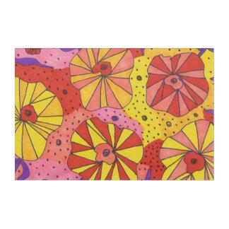 Futuristischer Blumengarten-Acrylkunst-Druck Acryldruck