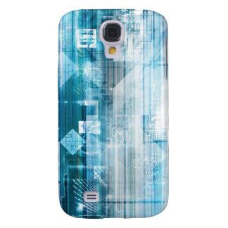 Futuristischer Hintergrund mit der Technologie Galaxy S4 Hülle