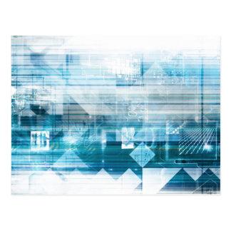 Futuristischer Hintergrund mit der Technologie Postkarte