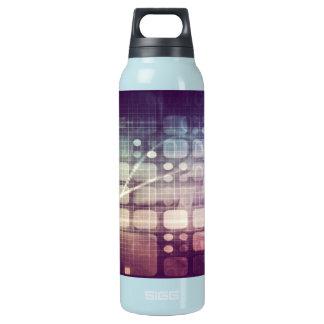 Futuristisches abstraktes Konzept auf Technologie Isolierte Flasche