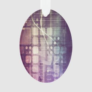Futuristisches abstraktes Konzept auf Technologie Ornament