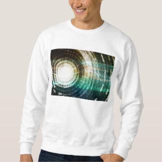 Futuristisches Technologie-Portal mit Digital Sweatshirt