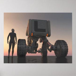 futuristisches transport jpg plakatdrucke