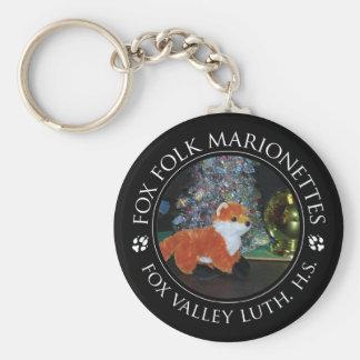 FVLHS Fox-Marionette Keychain Standard Runder Schlüsselanhänger