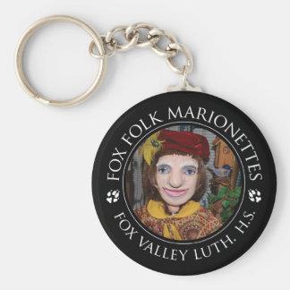 FVLHS Minnesänger-Marionette Keychain Standard Runder Schlüsselanhänger