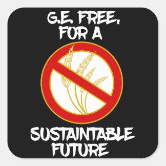 G.E. geben Sie während einer nachhaltigen Zukunft Quadratischer Aufkleber
