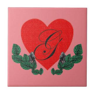 G in einem Herzen (kundengerecht) Keramikfliese