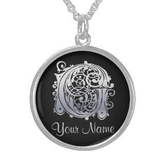 G-Initiale mit Ihrer Namenshalskette Sterling Silberkette