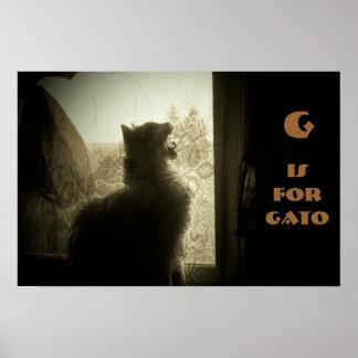 G ist für Gato Miezekatze Poster