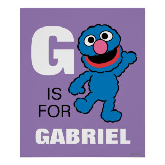 G ist für Grover, den | Ihren Namen addieren Poster