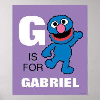 G ist für Grover Poster